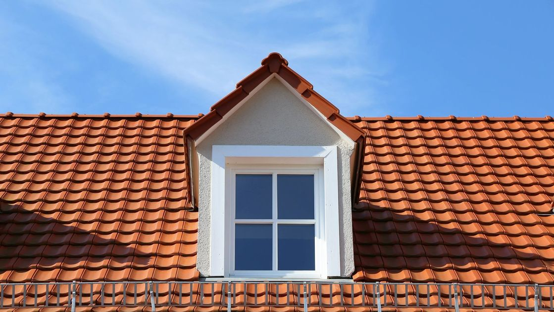Red tiled roofing work