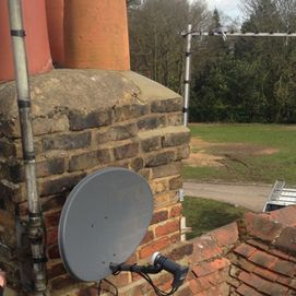 chimney with tv aerial