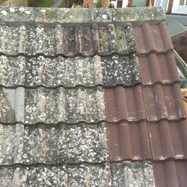 old roof tiles that need replacing.