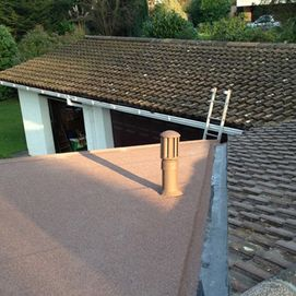 tiled and flat roof